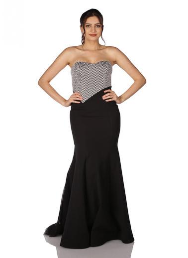 Pierre Cardin Straplez Uzun Abiye Elbise Siyah